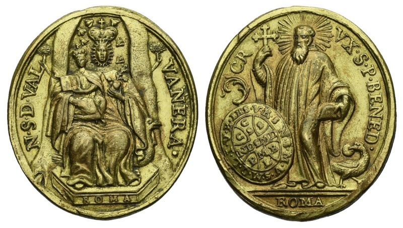 Virgen de Valvanera  /  San Benito de Nursia (R.M. SXVIII-O456) (AM) O-354_10
