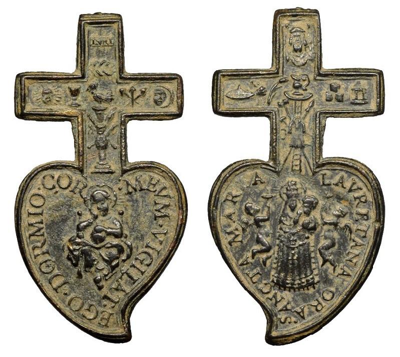 Instrumentos pasión-Jesús Niño dormido / Instrumentos pasión-Virgen de Loreto (R.M. SXVII-Ot95)  Ot-02410