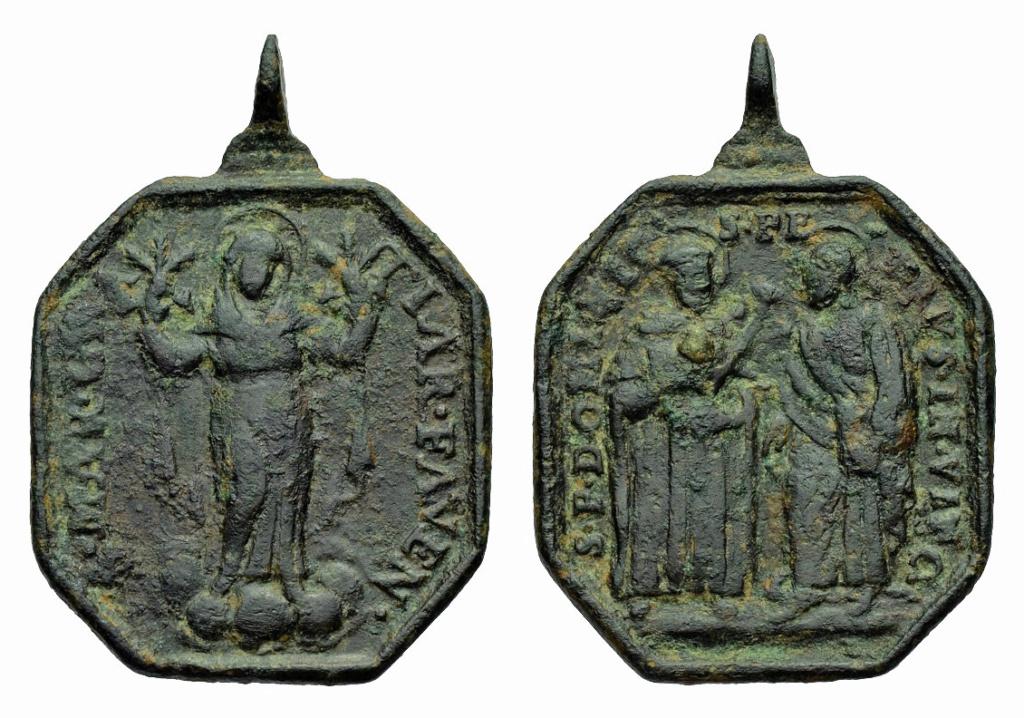 Santo Domingo de Guzmán y San Pedro encadenado / Virgen de  Gracia de Faenza,  S. XVII P-12810