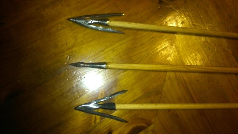 Primeras prácticas de calda. Puntas de flecha con aletas Dsc_0716
