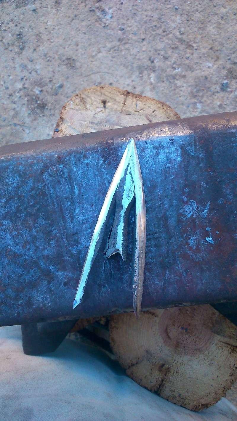 Primeras prácticas de calda. Puntas de flecha con aletas Dsc_0717