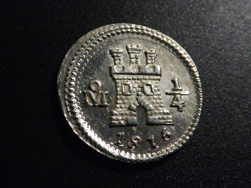 ¼ de Real de 1.815. Fernando VII Dscf3125