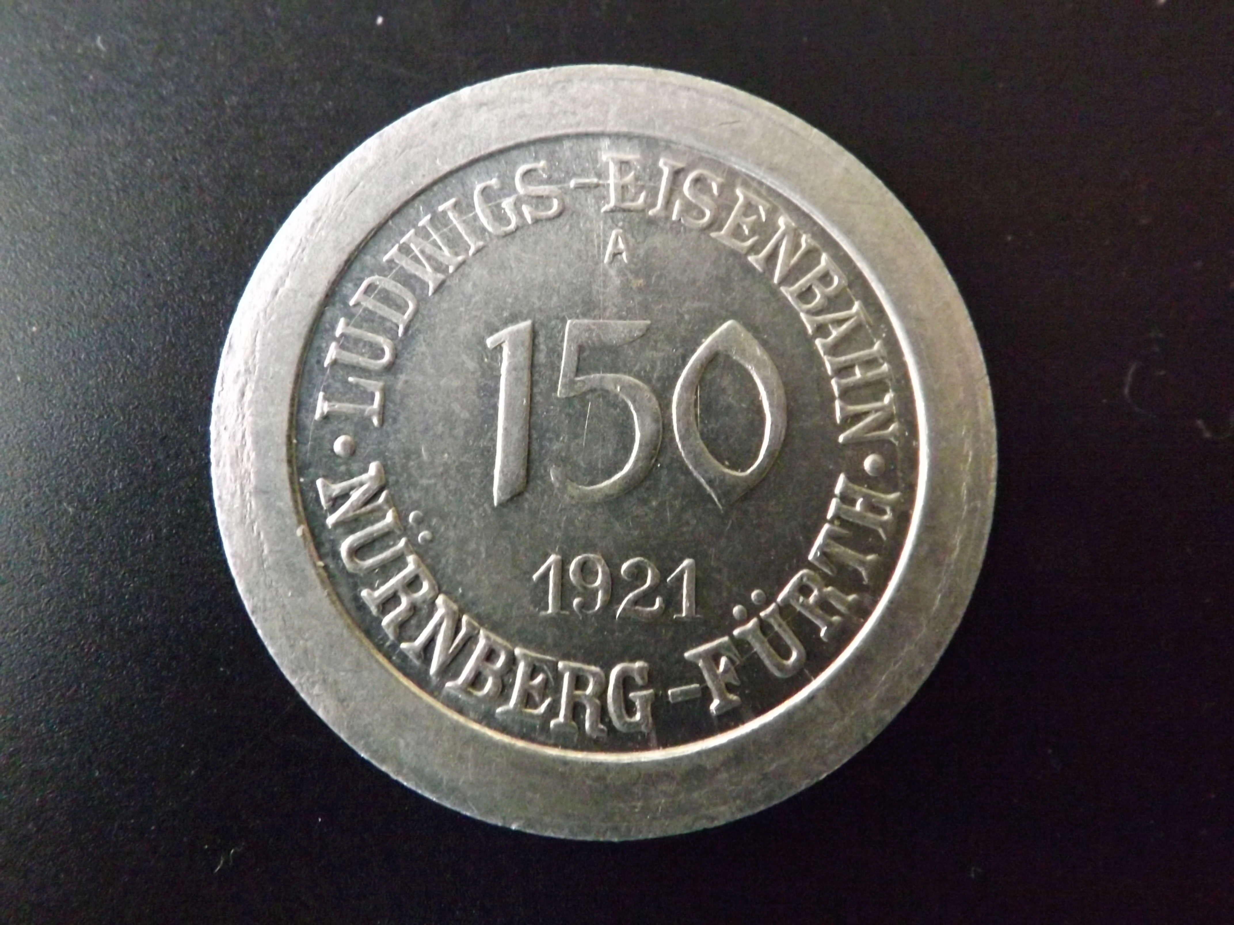 "Notgeld de 150 Pfennig de 1.921. Ferrocarril "" Ludwig Eisenbahn ""  Dscf3220"