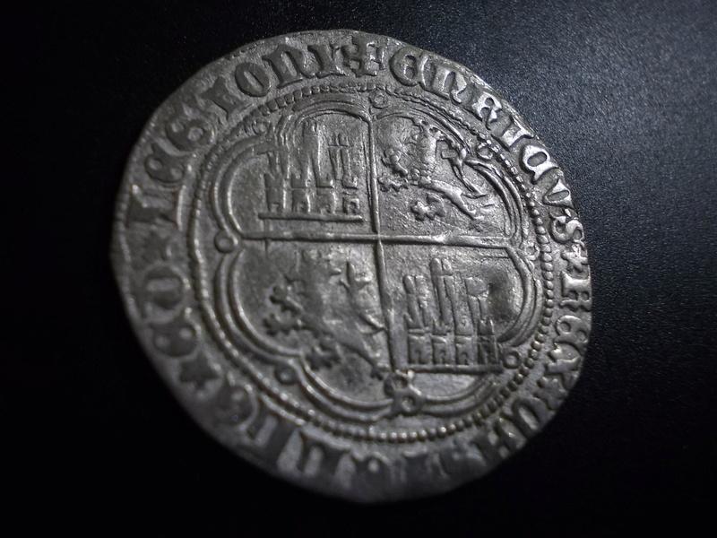 Real de busto de Enrique IV de Castilla 1454-1474  Sevilla Dscn1713