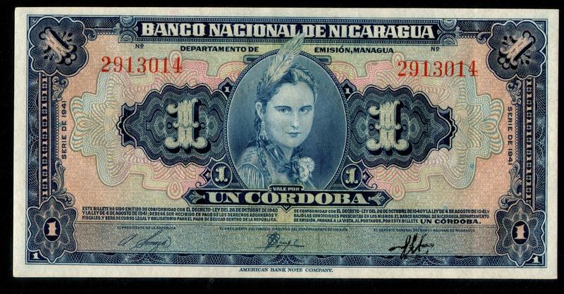 1 Córdoba de 1.941, Nicaragua Mujere10