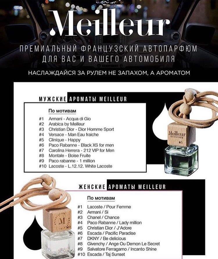 Премиальный франц. парфюм для Вашего автомобиля 157