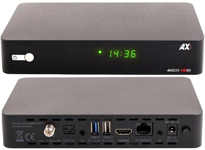 AX 4K-Box HD60 4K UHD E2 Linux + Android Ax10