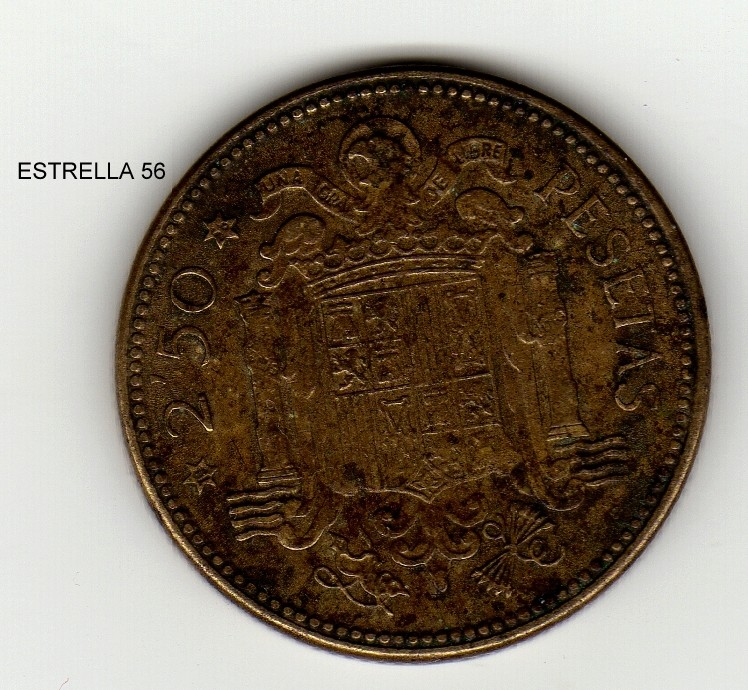 La moneda de 2 y media Pesetas. Estrel11
