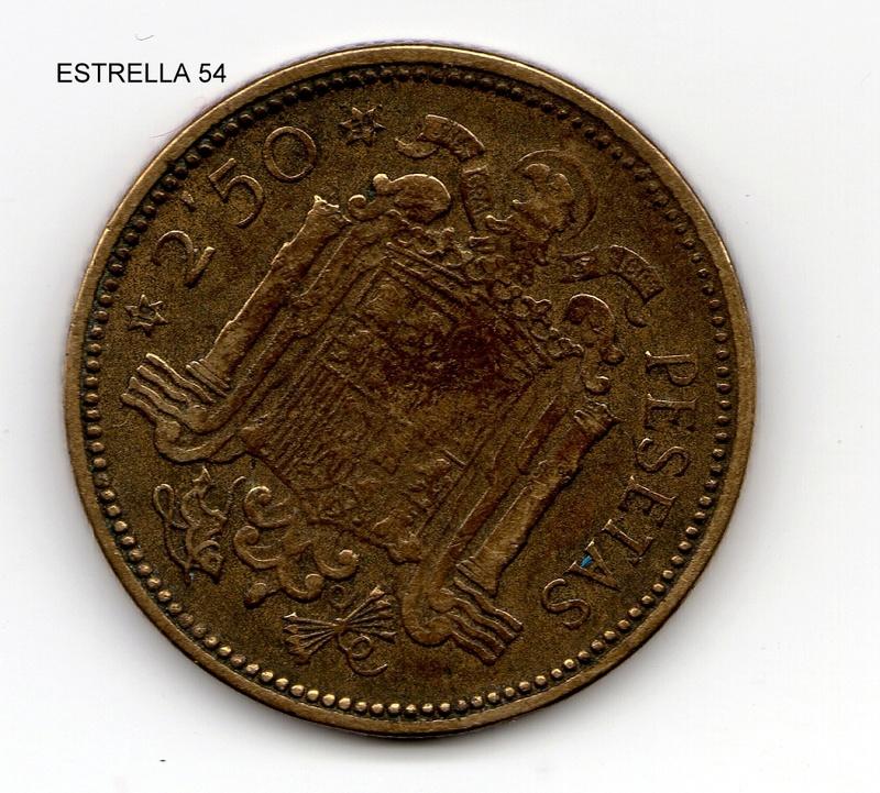 La moneda de 2 y media Pesetas. Estrel15