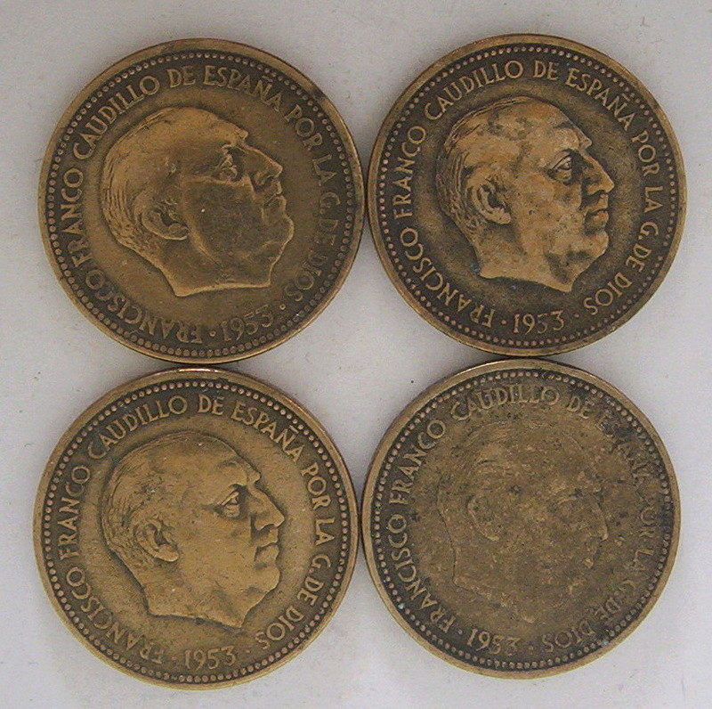 La moneda de 2 y media Pesetas. Franco15