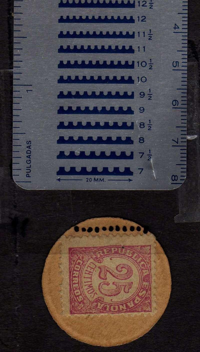 25 céntimos cartón moneda. II República Odonto10