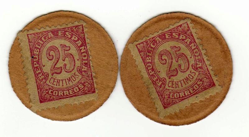 25 céntimos cartón moneda. II República Revers13
