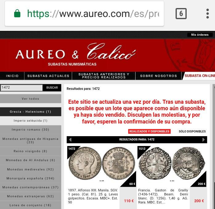 Subasta Aureo & Calico. Estafa? Opiniones.  _2018013