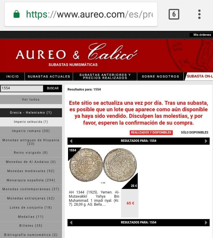 Subasta Aureo & Calico. Estafa? Opiniones.  _2018014