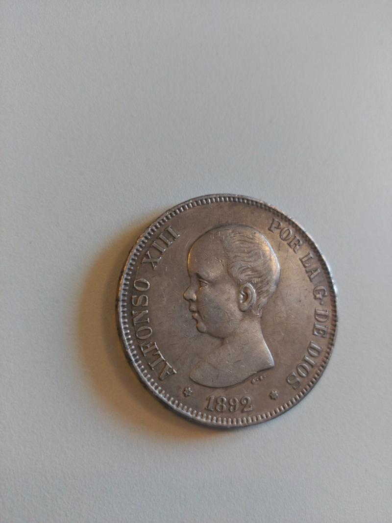 5 pesetas 1892  (*18*92). Alfonso XIII. PG.M Img_2053