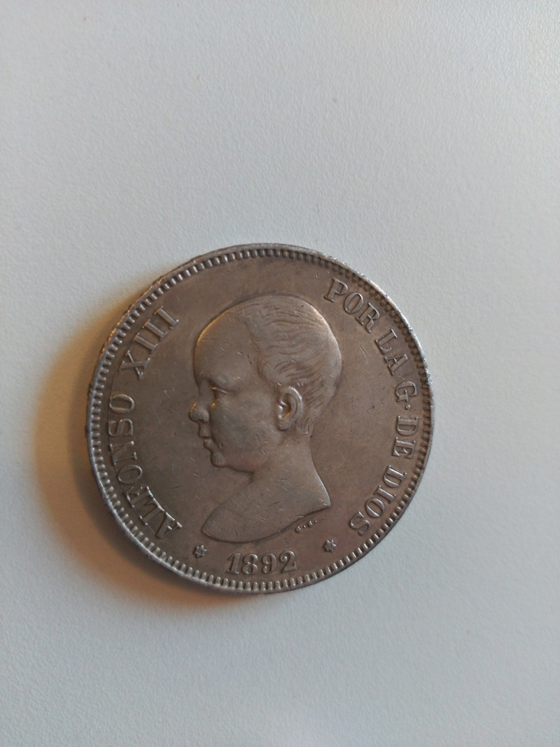 5 pesetas 1892  (*18*92). Alfonso XIII. PG.M Img_2054