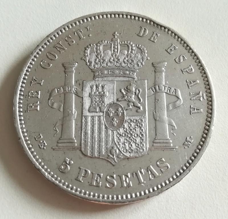 5 pesetas 1877 (*18*77). Alfonso XII. Madrid DE M Img_2057