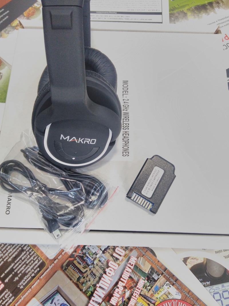 Безжични слушалки за металотърсач Makro Racer 2, Gold Racer Img_2014