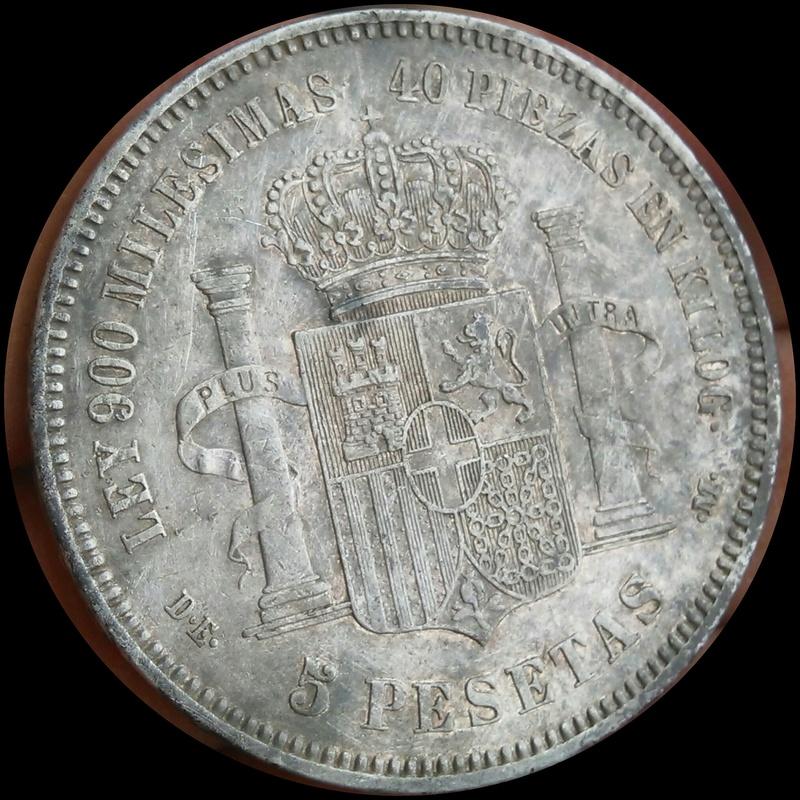 5 pesetas 1871. Amadeo I Img_2034