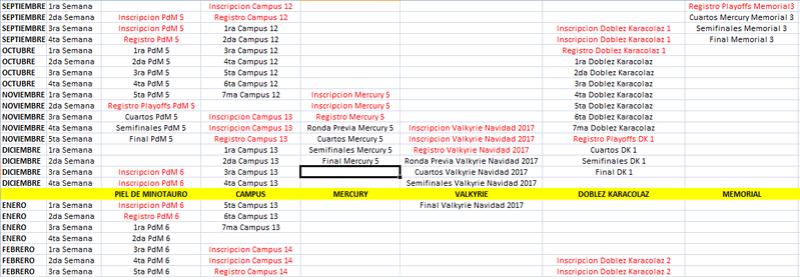 Calendario de Competiciones Otoño-Invierno 2017 2017ot11