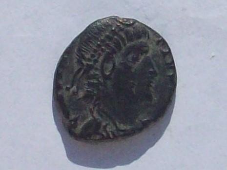 AE4 de Constancio II. GLOR-IA EXER-CITVS. Estandarte entre dos soldados. 102_4100
