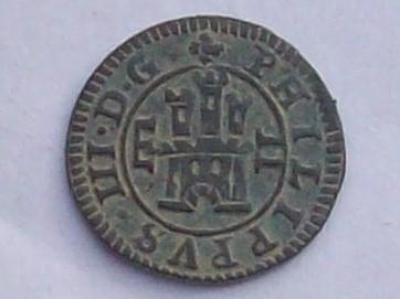 2 Maravedis de Felipe III de 1607, Segovia 102_4147