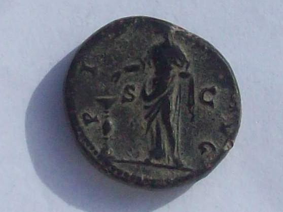 Dupondio de Faustina I. PIETAS AVG. Roma 102_4260