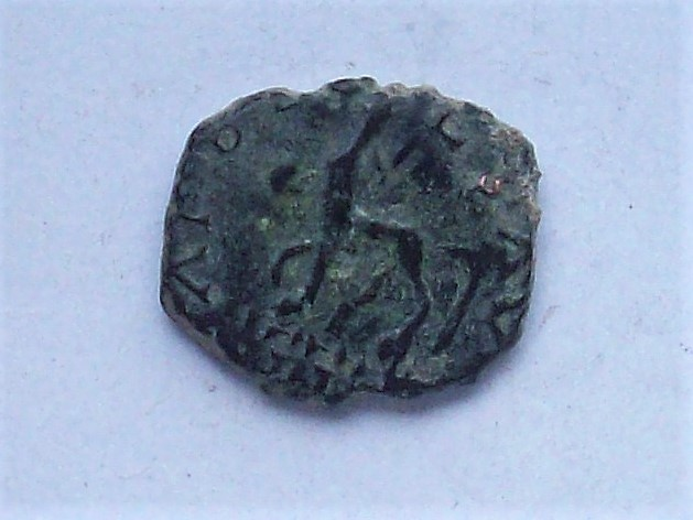Antoniniano imitativo de Tétrico I, reverso de Galieno. APOLLINI CONS AVG 102_4450