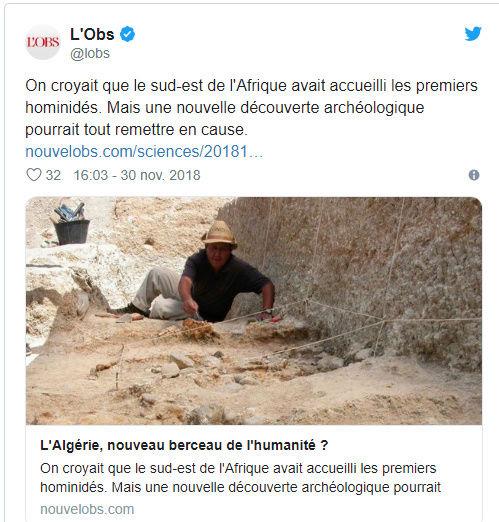 """هل الجزائر """"مهد البشرية"""" ؟ L_obs10"""