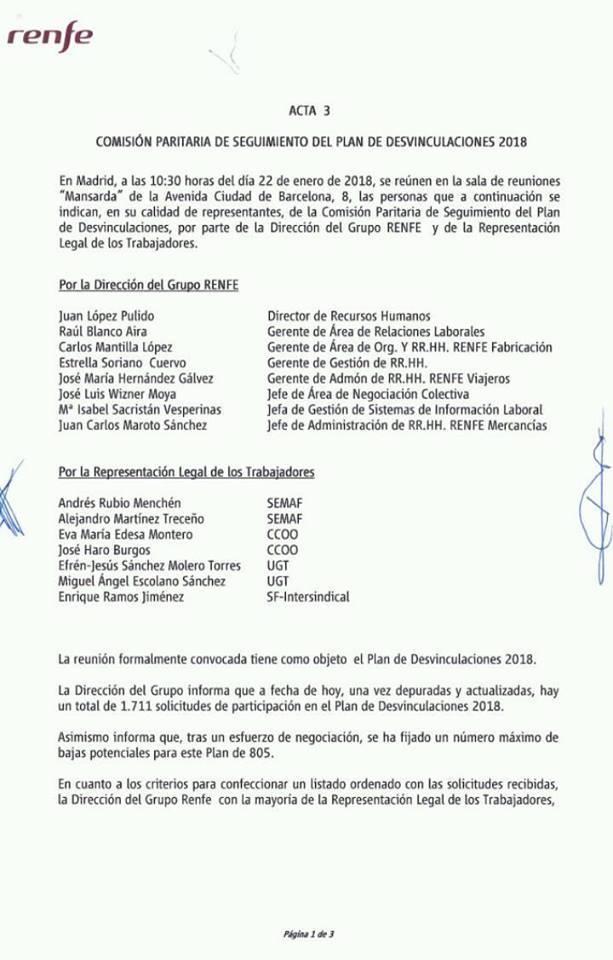 Renfe. Plan desvinculaciones 2018 19598410