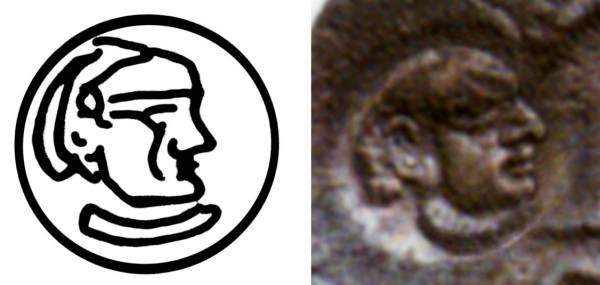 Dracma de Chaganiyán imitativo de Cosroes I Cm_11310