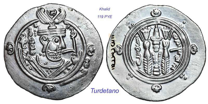 Los bustos en los hemidracmas de Tabaristán. Khalid13