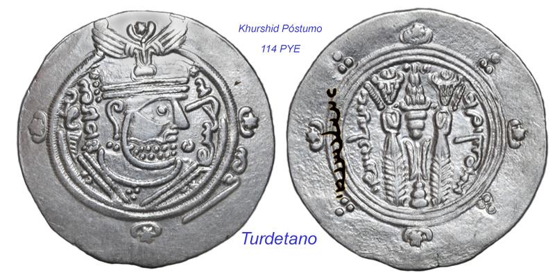 Los bustos en los hemidracmas de Tabaristán. Khursh11