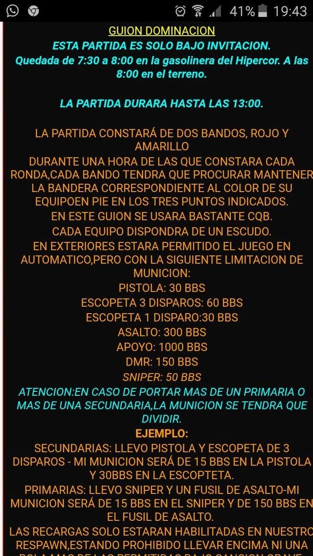 PARTIDA  | 11 marzo  | Zona Iccosa (Córdoba) Whatsa12