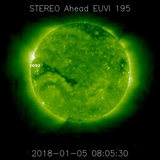 Monitoreo de la Actividad Solar 2018 20180115
