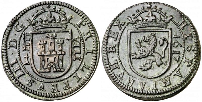 8 Maravedis Felipe III, ceca de Segovia, 1607. 35187410