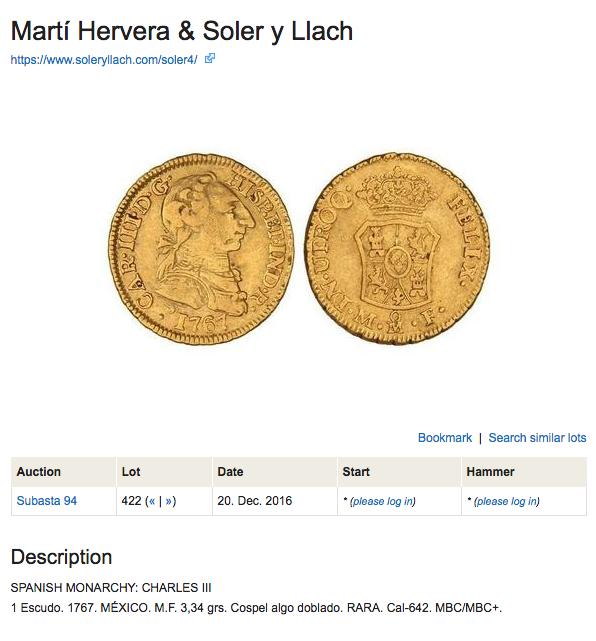 1 Escudo Carlos III 1767 ceca Mejico Captur11