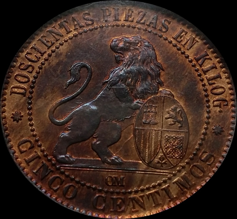 5 Céntimos - 1870 - MS64 RB (SC) - Gobierno Provisional Img_9110