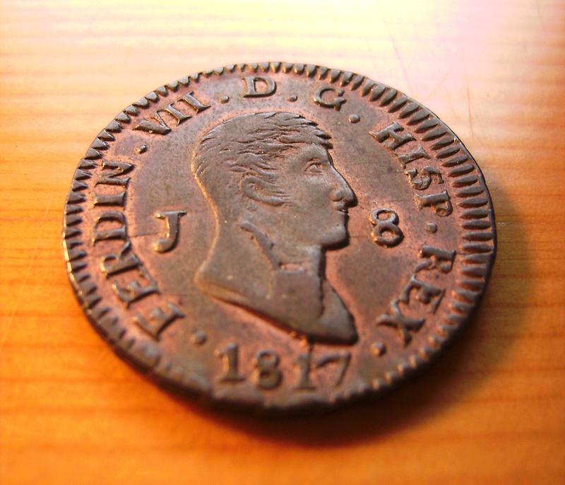 8 Maravedís 1817. Fernando VII. Jubia Sany4312