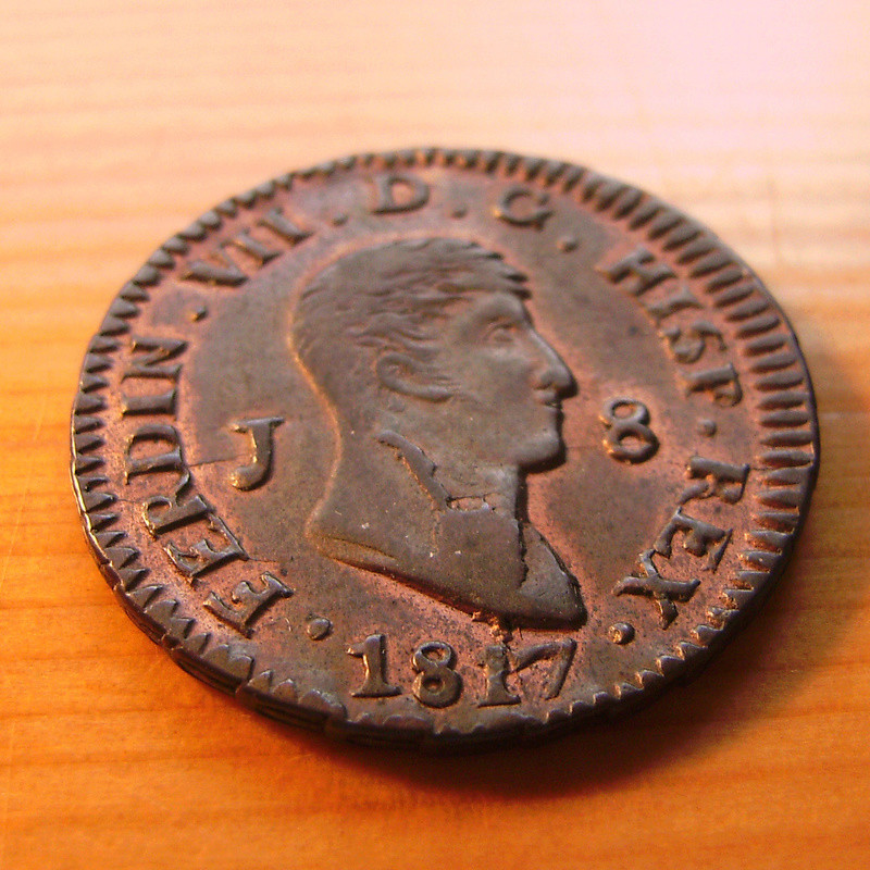8 Maravedís 1817. Fernando VII. Jubia Sany4314