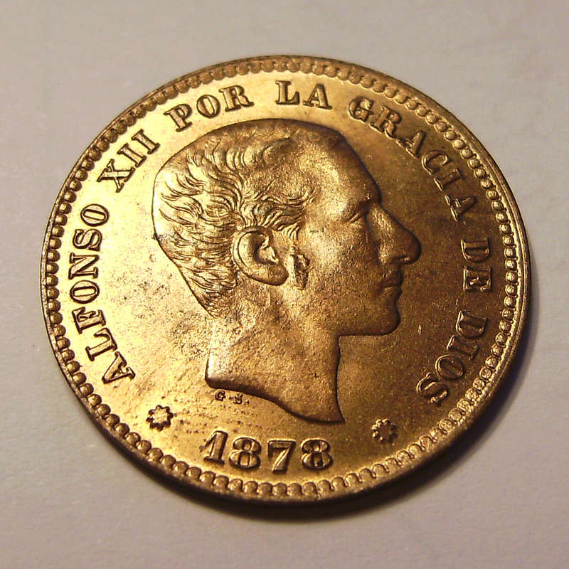 5 Céntimos 1878. Alfonso XII Sany4326