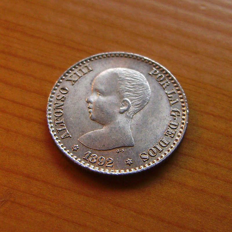 50 Céntimos 1892 (*2-2). Alfonso XIII. Variante estrellas  Sany4328