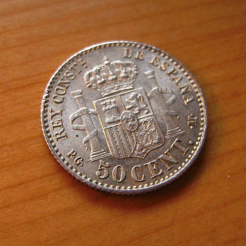 50 Céntimos 1892 (*2-2). Alfonso XIII. Variante estrellas  Sany4329