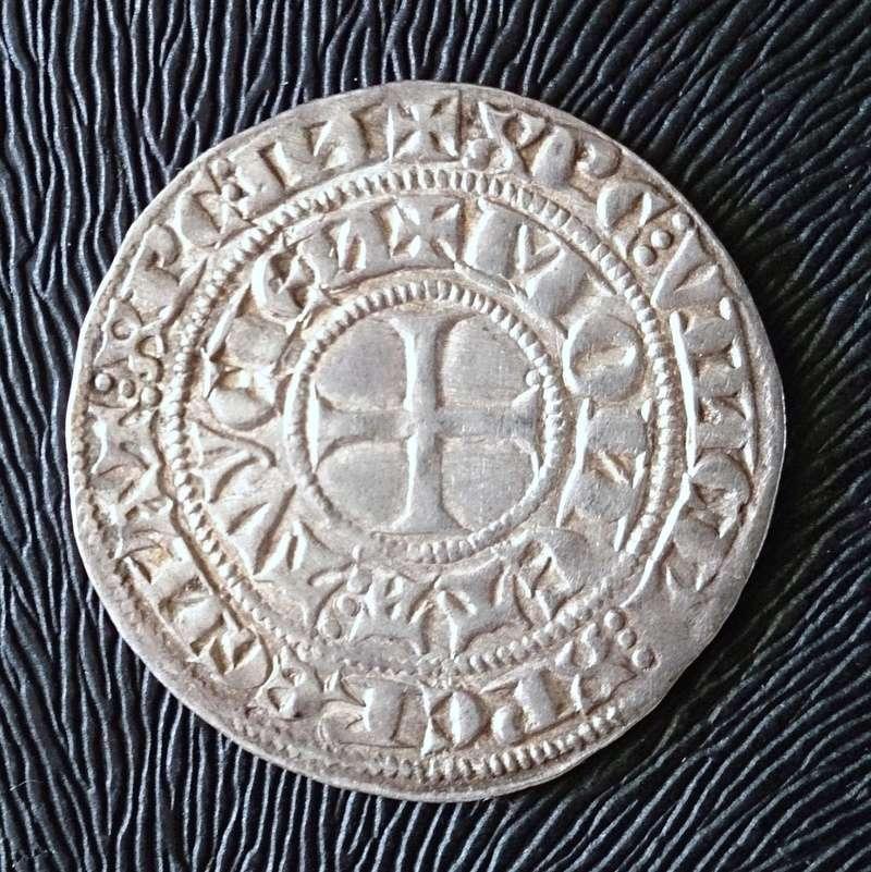 Gros Tournose de busto (1332-1349). Arzobispado de Colonia 1343da10