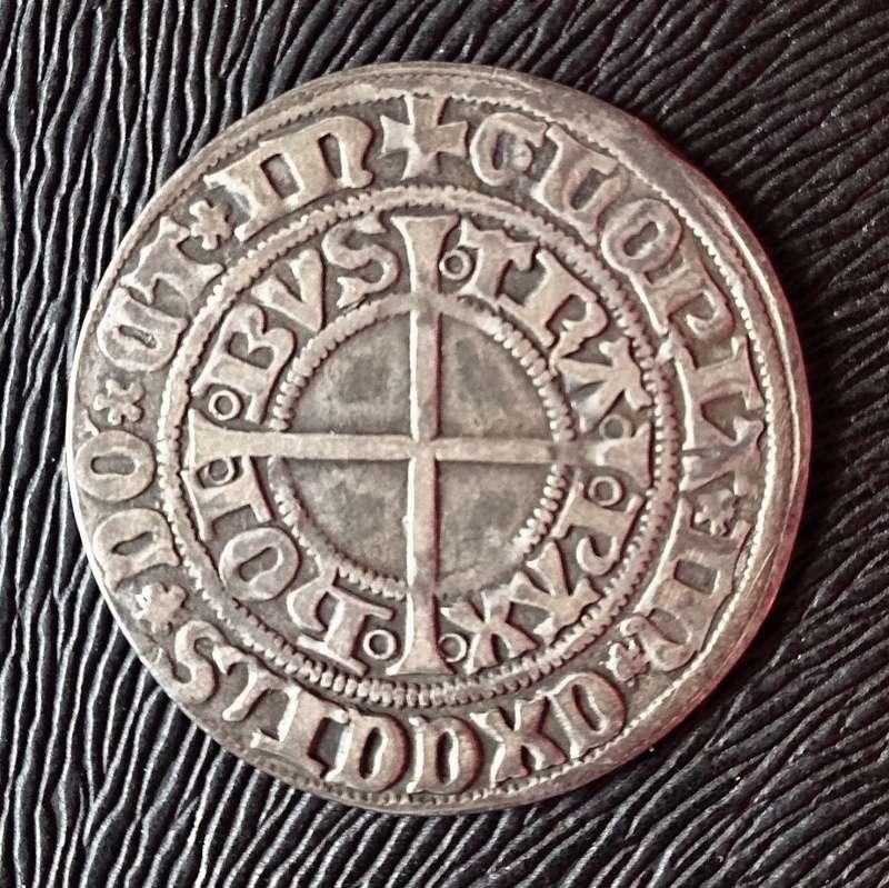 Groschen (gros tournose) c.1397 - Estrasburgo, ciudad estado. 1397b10