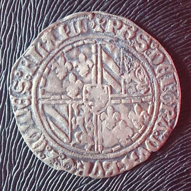 """Doble gros """"vierlander"""" (1434-1465) Condado de Flandes 1434a10"""