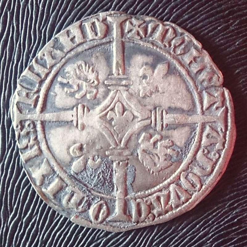"""Doble gros """"vierlander"""" (1434-1465) Condado de Flandes 1434b10"""