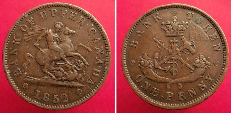 UN PENIQUE - Banco del Alto Canadá, 1857 Can18512