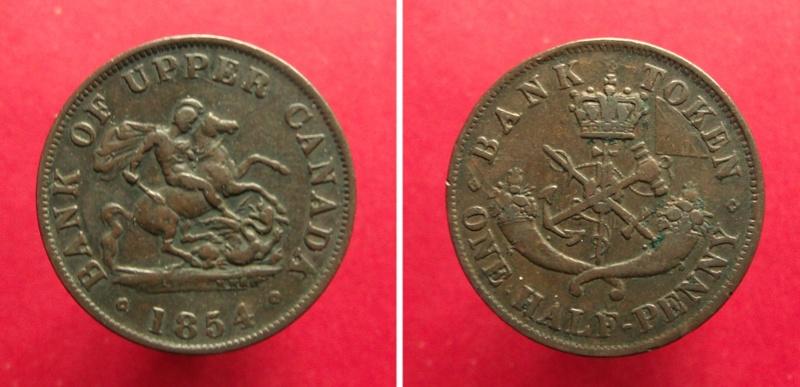 UN PENIQUE - Banco del Alto Canadá, 1857 Can18513