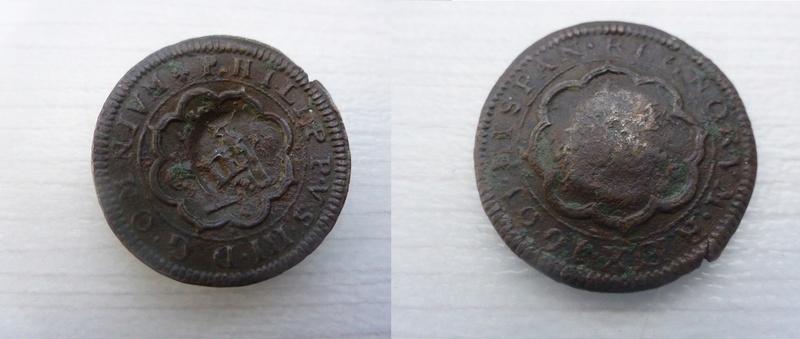 4 maravedis de Felipe III de 1601 - Segovia C - resellados a 8 P1060025